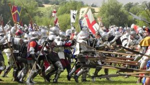 Πόλεμος των Δύο Ρόδων: Το πεζικό του μεγάλου αγγλικού εμφυλίου