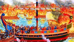 """Η άγρια """"πεζομαχία"""" μέσα στη θάλασσα: Μεγάλη ανατροπή και σφαγή Λατίνων"""