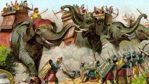 """Πολεμικοί ελέφαντες και φλεγόμενα γουρούνια… Αρχαία """"τανκ"""" και """"αντιαρματικά""""!"""